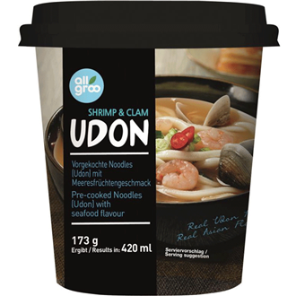Allgroo Udon cup, seafood 173g