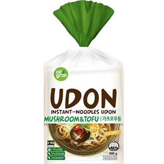 Allgroo Udon noodles, tofu and mushrooms 3 portion 690g