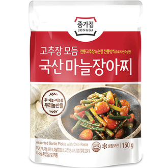 Chongga Pickled Garlic Stem in Chili Sauce 150g