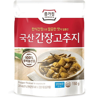 Chongga Seasoned Chili Pepper in Soy Sauce 150g