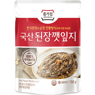 Chongga Seasoned Sesame Leaves in Soybean Paste 150g