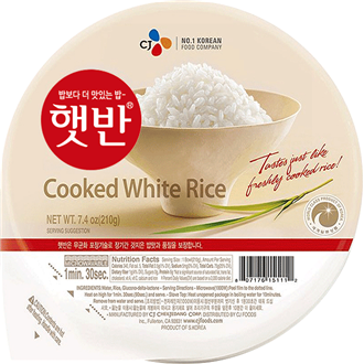 CJ Hetban Cooked White Rice Microwavable 210g