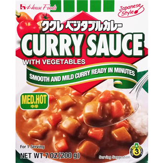 House Kukure Retort  Vegetable Curry Chukara Medium Hot 200g