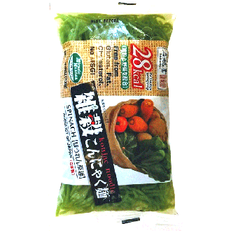 Ishibashiya Konnyak noodles with spinach 200g