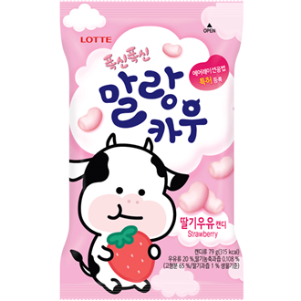Lotte Kauen Soft Candy Malrang Kuh Erdbeere 79g