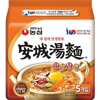 Nongshim Ansungtangmyun Multipack Korea Inland-Edition 5x125g