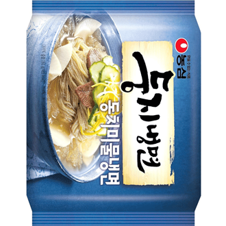 Nongshim Doongji Naengmyun, Kalte Nudeln in Soupen, Korea Inland-Edition 162g