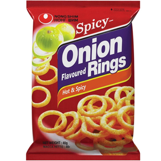 Nongshim Onion Rings Hot and Spicy 40g