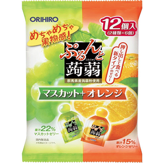 Orihiro Konnyaku Jelly Muscut Orange 240g