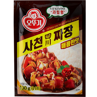 Ottogi Black Bean Jjajang Powder Spicy Sichuan Style 100g