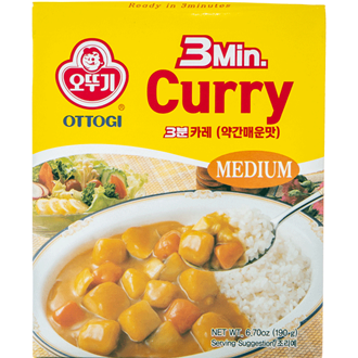 Ottogi 3 minutes Curry Medium Spicy 200g