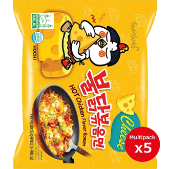 Samyang Hot Chicken Ramen (Cheese) Multi pack 5×140g