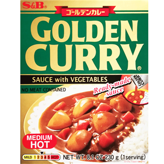 S&B Retort Golden Vegetable Curry Chukara Medium Hot 230g
