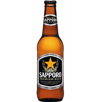 Sapporo Sapporo Beer Bottle 330ml