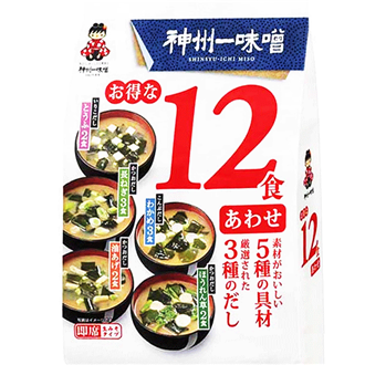 Shinshuichi Awase Miso, Instant Suppenpaste Miso , dunkel, 193g