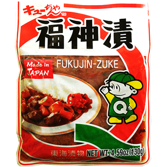 Tokai Fukujinzuke, Sliced Vegetables Pickled in Soy Sauce 130g